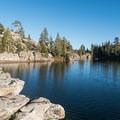 Looking south at Long Lake.- Long Lake Swimming Hole via Palisades Creek Trail