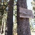 Signage after dam.- Long Lake Swimming Hole via Palisades Creek Trail