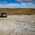 Parking at a large dry dirt area adjacent to the tub.- Paradise Valley Hot Spring