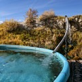 Temperature can be altered by adjusting the inflow pipe.- Paradise Valley Hot Spring