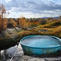 Views from the tub.- Paradise Valley Hot Spring