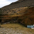 Two bathtubs with spring water piped into it is the soaking opportunity at Dyke.- Dyke Hot Spring