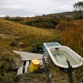 Soaking bathtubs looking out on the valley.- Dyke Hot Spring