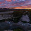 Sunrise at Bog Hot Springs.- Bog Hot Springs