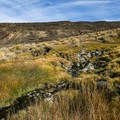 The source runs from the bottom of the hillside and cools before being piped into the tank.- Fisher Hot Spring