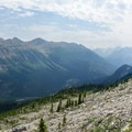 Looking south along the Continental Divide from the Iceline Trail.- Iceline Trail