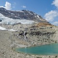 Emerald Glacier up close to the Iceline Trail.- Iceline Trail