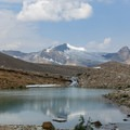 Many alpine lakes along the tundra shelf.- Iceline Trail