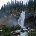Laughing Falls where the Little Yoho River feeds into Yoho River proper.- Iceline Trail
