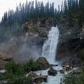 Laughing Falls where the Little Yoho River feeds into Yoho River proper.- Iceline Trail