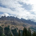 Dolomite Mountain across the valley.- Dolomite Pass