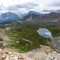 Halfway up to Cirque Peak.- Dolomite Pass