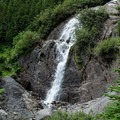 Waterfalls fed from the glaciers above.- Northover Ridge