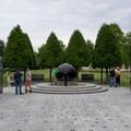 World War II memorial in Bicentennial Capitol Mall State Park.- Bicentennial Capitol Mall State Park