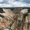 Looking down the canyon from Grand View in Yellowstone National Park.- Grand Canyon of the Yellowstone