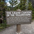 Information at Lookout Point.- Grand Canyon of the Yellowstone
