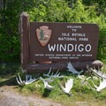 Windigo welcome sign.- Greenstone Ridge Trail