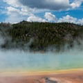 Another angle on the spring.- Grand Prismatic Spring + Midway Geyser Basin