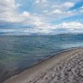 Yellowstone Lake from Gull Point.- Gull Point on Yellowstone Lake