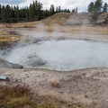 Churning Cauldron in Yellowstone National Park.- Mud Volcano Area