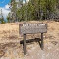 Informational sign for Black Dragons Cauldron- Mud Volcano Area