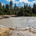 Black Dragon Cauldron in Yellowstone National Park.- Mud Volcano Area