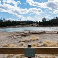 Sour Lake in Yellowstone National Park.- Mud Volcano Area