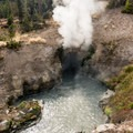 Dragons Mouth Spring in Yellowstone National Park.- Mud Volcano Area