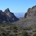 View looking over the Window in Big Bend National Park.- Window Trail
