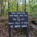 Keep an eye out for mountain bikers.- Sope Creek