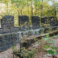 The mill ruins are over two stories in some places.- Sope Creek