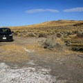 Parking is adjacent to the pool.- Applegate Hot Springs
