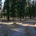 A small double track that passes through the campground.- Stough Reservoir