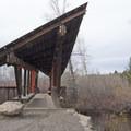 Kevin Mundy Memorial Bridge over Bridger Creek.- Drinking Horse Mountain