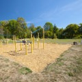 Exercise area at Greenway Park.- Greenway Park + Fanno Creek Trail