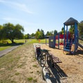 One of a handful of playgrounds at Greenway Park.- Greenway Park + Fanno Creek Trail
