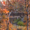 PCT bridge getting closer.- Headwaters Trail + PCT bridge