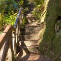 Well developed stairs lead to the top.- Ceremonial Rock