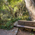 A bench to rest on after climbing down the stairs.- Ceremonial Rock