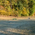 The dog park has toys for the dogs to play on.- Morgan Falls River Park