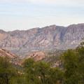 View up the Laguna Meadows Trail.- South Rim Loop