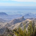View from the South Rim Trail toward Mexico.- South Rim Loop