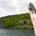 The banks of Bear Lake.- Bean Lake + Bear Lake via the Superior Hiking Trail