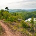 Bean Lake from above.- Bean Lake + Bear Lake via the Superior Hiking Trail