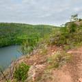 Bear Lake with the trail.- Bean Lake + Bear Lake via the Superior Hiking Trail