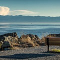 There are plenty of Benches to relax and enjoy the view.- Whiffen Spit