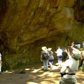 Finding the rock art at Cascadia Cave.- Cascadia Cave