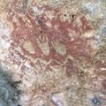 Some people painted the petroglyphs to make them stand out.- Cascadia Cave