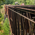 It's common to see people trespassing on the bridge.- Niagara Falls + Goldstream Trestle Bridge