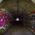 Tunnel underneath the highway.- Niagara Falls + Goldstream Trestle Bridge